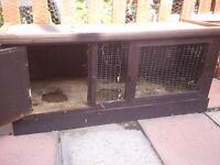 2 x rabbit hutches