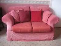 2 seater sofa with loose cover - recover to suit any room