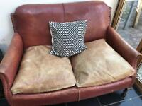 Antique/vintage leather sofa