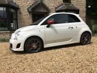 "Fiat Abarth 500, 1.4 manual, turbo, 37,500 miles, 17"" 10 spoke alloys, Blue snd Me with USB port, ,"