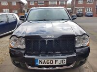 jeep grand cherokee 3.0 crd diesel. beautiful gloss black finish