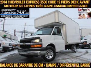 2014 Chevrolet Express 3500 CUBE 12 PIEDS DECK AVANT 6.0 LITRES