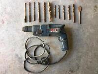 Ryobi SDS Hammer Drill with many bits