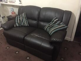 3+2 Recliners-Faux Leatherite-Brown-£69