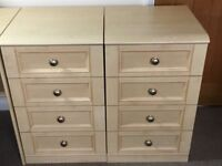 Home Office/Study furniture: very good condition - corner desk, 2 x 4 drawers, 2 bookcases/cupboard