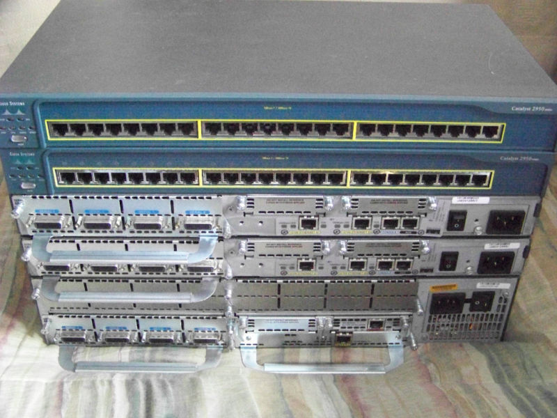 CISCO 3640 2621 2950 CCENT CCNA Maxed Out Lab