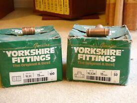 15mm Yorkshire straight joints & Tee's