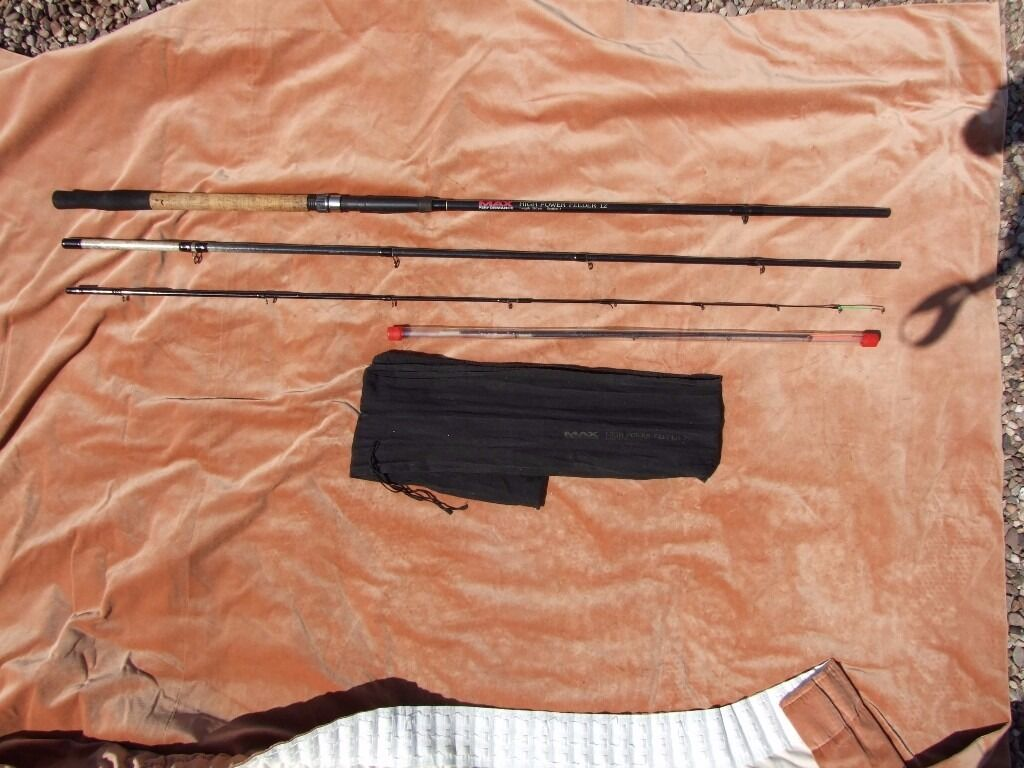 Max Power High Performance 12ft Feeder Rod3 Quiver Tipsin Verwood, DorsetGumtree - Here I Have a Max Power High Performance 12ft Feeder Rod 3 Quiver Tips in good used condition comes with rod bag £12