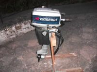 Evinrude 4hp Outboard Motor. Short shaft With Fuel tank.