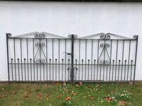 Galvanised driveway gates. Combined width 10 ft