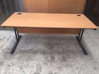 Large Rectangular Beech Desk