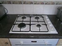 Hotpoint electric fan oven and Manor House gas hob - white
