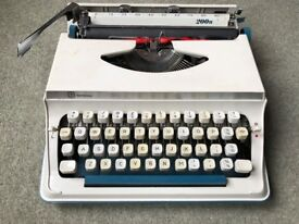 Vintage blue Imperial Litton 200n Typewriter