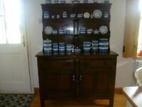 ercol dark wood dresser very old good condition some minor staining to top see photos.