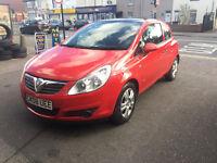 Vauxhall Corsa 1.2 Petrol 2008 3 Door Hatchback Manual Red Stunning Car Service History
