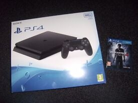SONY PLAYSTATION 4 WITH Uncharted 4 A Thief's End