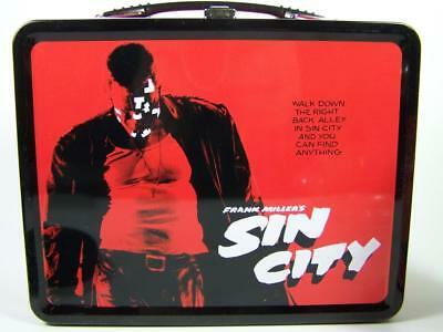 SIN CITY FULL SIZE METAL TIN LUNCH BOX WITH THERMOS 2005 FRANK MILLER'S NEW NECA
