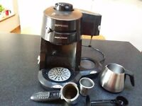 Morphy Richards Espresso Coffee Machine with Milk Frother and Instruction Book