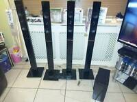 4 Samsung stand-up surround sound speakers, subwoofer