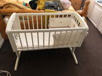 Baby Rocking Crib/Cot with Mattress and Cushions *NEW*