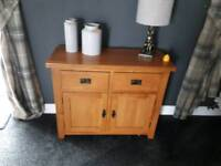 Solid oak sideboard in ex condition