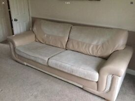 4 & 3 seater settee with storage foot stool. Good condition. Smoke free home. Collection only