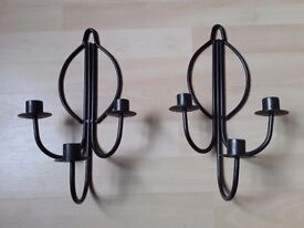 Wall mounted candle holders (pair)