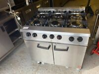 FALCON GAS COOKER OVEN 6 RING CATERING COMMERCIAL KITCHEN BBQ RESTAURANT