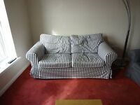2 seater sofa IKEA Black and white stripes