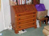 Reproduction wooden bureau