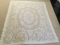 Pretty Lace Tablecloth 52 inches x 63 inches