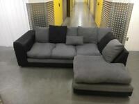 Grey&black clean comfy L shape sofa •free delivery