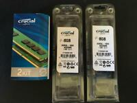 Apple Mac memory 2 x 4gb chips