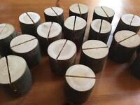 18 x wooden holders
