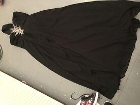 Black floor length prom dress