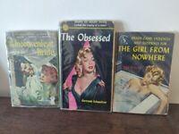 3 Vintage pulp fiction books