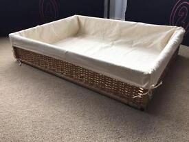 Under bed storage baskets with liners