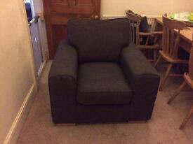 Gray black armchair