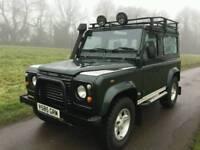 1999 Land Rover Defender 90 TD5 Manual County Epsom Green 109 Miles