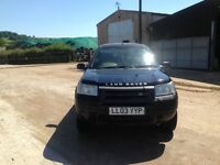 Black Freelander 5drs with 10 months MOT left