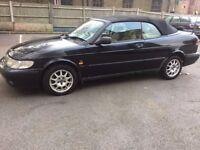 Saab Convertible with long mot