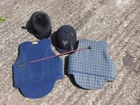 Riding Helmets, Safety Vests assorted riding equipment