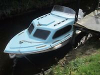 Shetland 535 boat with 70hp outboard and mooring