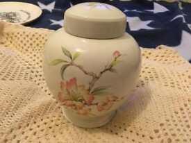 St Michael Oriental floral jar with lid
