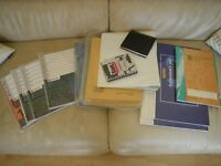JOB LOT OF OFFICE STATIONERY - FOOLSCAP FOLDERS; REXEL CARD INDEXES; ACCOUNTANCY PADS.