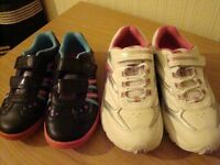 2 pairs of brand new trainers from Clarks size 10 1/2