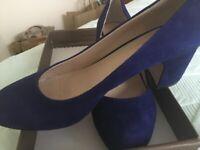 Ladies CARVELA - Blue suede court shoes - REDUCED