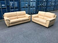 Suite 3+2 seater real soft leather-possible delivery