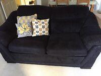 Black fabric sofa bed
