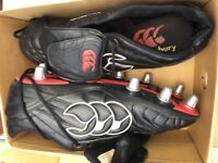 Boys Rugby boots, size 5, excellent condition, barely used